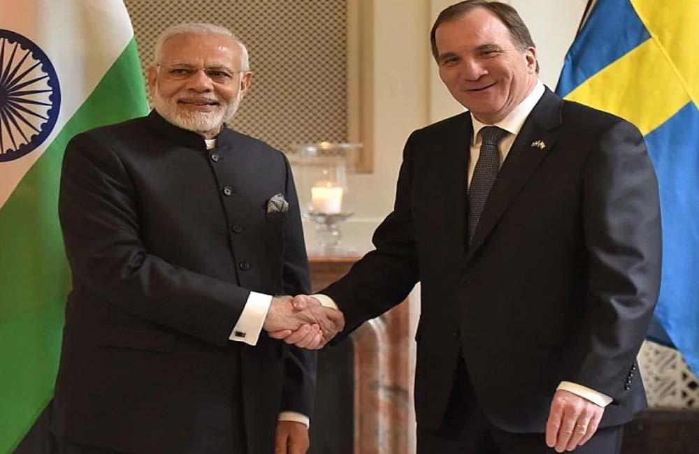 प्रधान मंत्री नरेंद्र मोदी ने आज स्वीडन के प्रधान मंत्री स्टीफन लोफवेन के साथ टेलीफोन पर बातचीत की