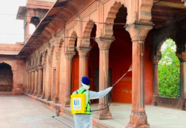 ऐतिहासिक जामा मस्जिद ईद पर बंद रहा