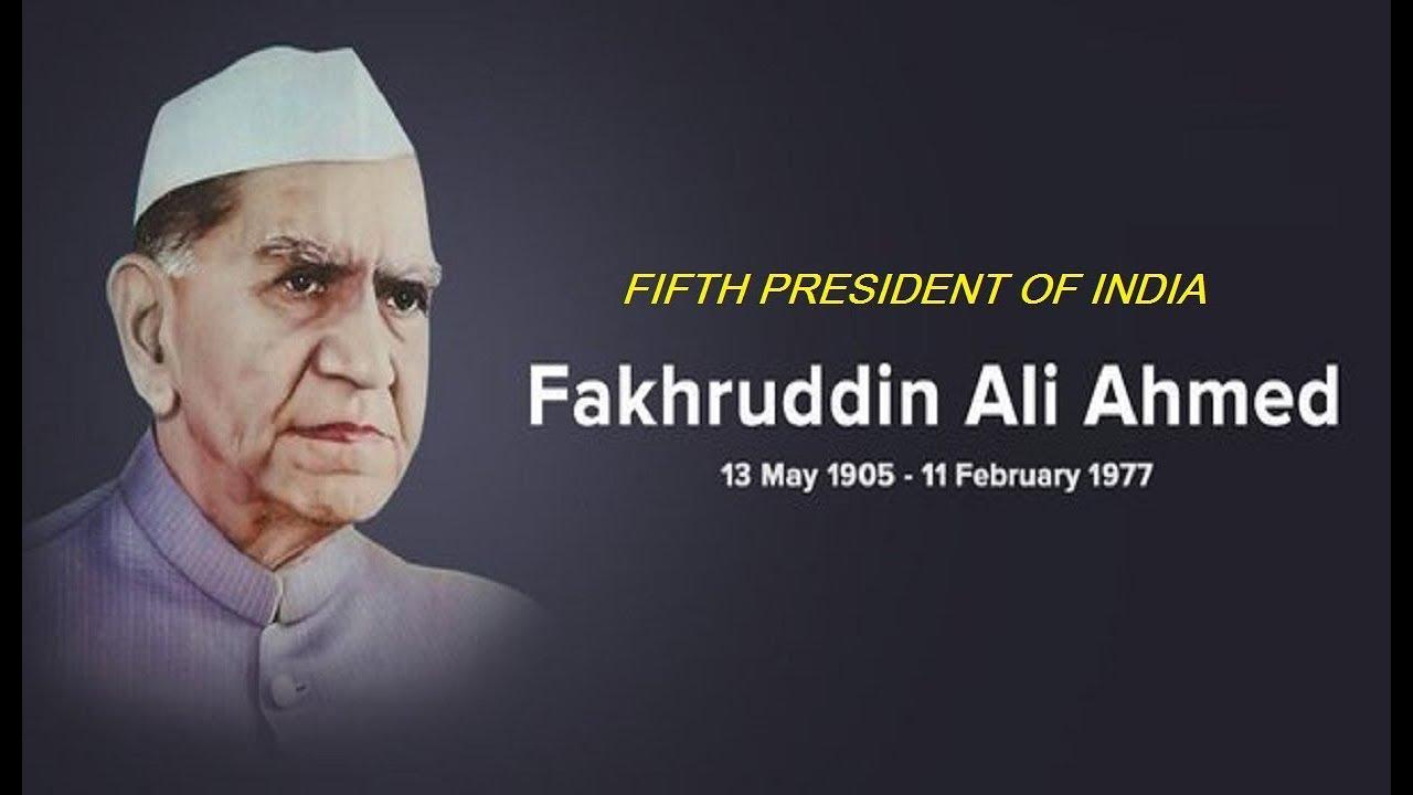 राष्ट्रपति कोविंद ने  पूर्व राष्ट्रपति फखरुद्दीन अली अहमद को उनकी जयंती पर श्रद्धांजलि दिया